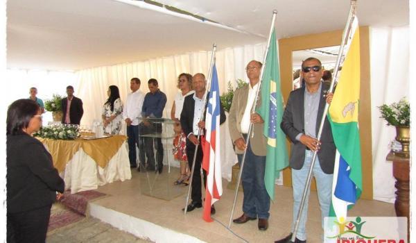 Ato Cívico é Realizado em Frente a Prefeitura Municipal para Comemoração dos 60 Anos de Emancipação Política-Administrativa de Ibiquera