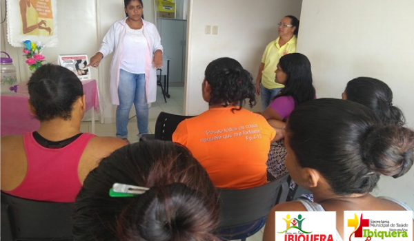 Câncer de mama,colo de útero e DST's, são temas abordados durante a sala de espera na Unidade de saúde básica da família de Ibiquera