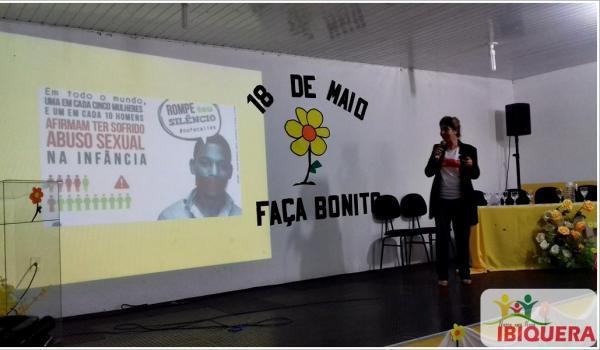 Dra. Marisa Jansen dá palestra sobre a Campanha Nacional Faça Bonito do dia 18 de Maio