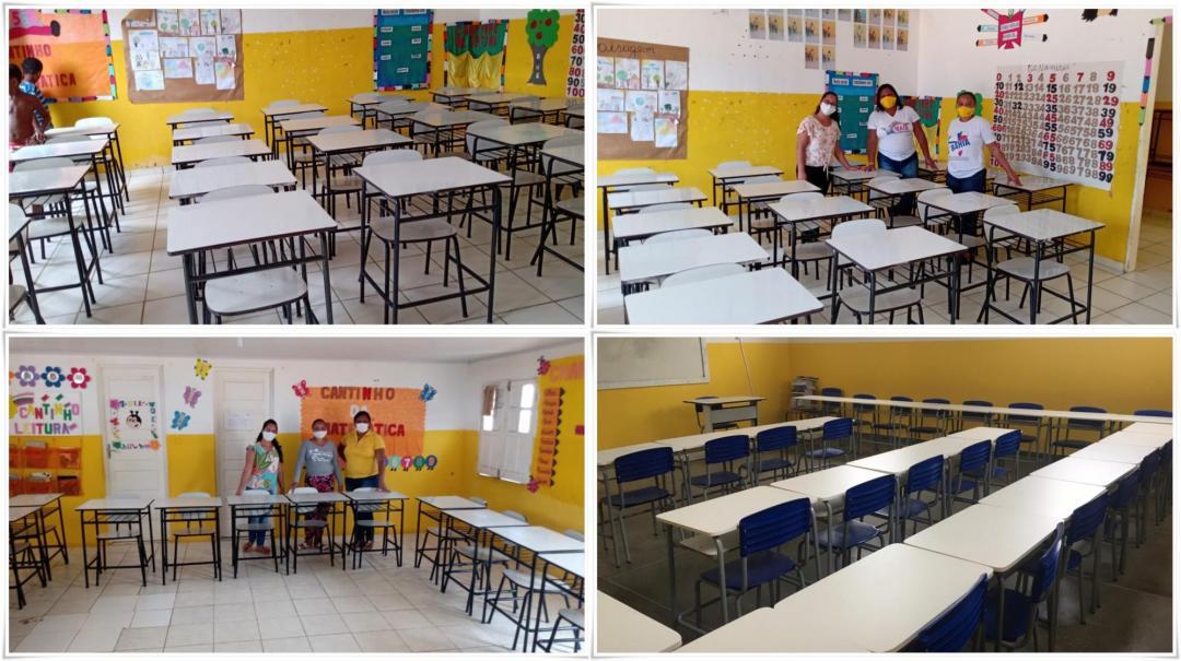Escolas da Rede Municipal Recebem Novo Mobiliário para Salas de Aula