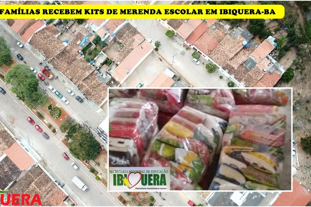 Famílias Recebem Kits De Merenda Escolar Em Ibiquera-Ba