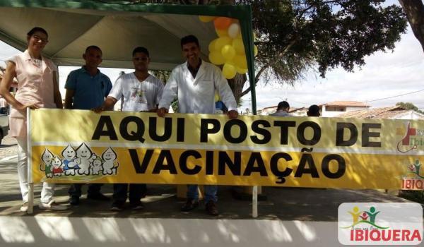 """MUNICÍPIO DE IBIQUERA-BA REALIZA DIA """"D"""" DA CAMPANHA DE VACINAÇÃO CONTRA POLIOMIELITE E SARAMPO"""