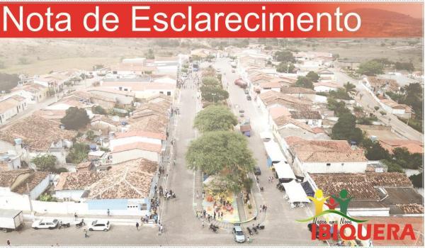 Nota Oficial da Prefeitura Municipal de Ibiquera Sobre Falso Atentado nas Escolas