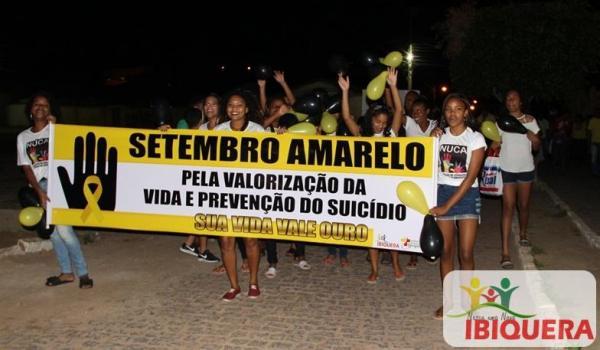 PREFEITO DE IBIQUERA ENTREGA AMBULÂNCIA DURANTE A  2ª CAMINHADA DE CONSCIENTIZAÇÃO SOBRE VALORIZAÇÃO A VIDA E PREVENÇÃO AO SUICÍDIO