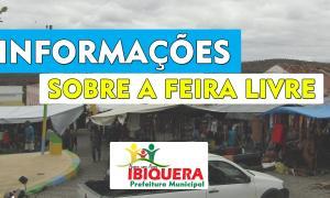 Prefeitura de Ibiquera não permitirá entrada de vendedores ambulantes na Feira Livre a partir de sábado 21
