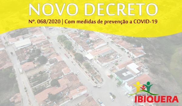 Prefeitura Municipal de Ibiquera Baixa Novo Decreto com Medidas de Prevenção a COVID-19