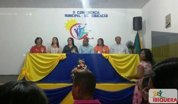 SECRETARIA MUNICIPAL DE EDUCAÇÃO DE IBIQUERA REALIZA A III CONFERÊNCIA MUNICIPAL DE EDUCAÇÃO.